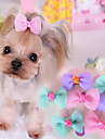 Cachorro Acessorios de Cabelo Roupas para Caes Fofo Casual Laco Roxo Azul Rosa claro