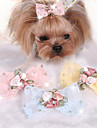 Dog Hair Accessories Dog Clothes Cute Casual/Daily Bowknot Yellow Blue Blushing Pink