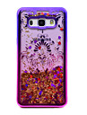 For Samsung Galaxy J5 (2016) J3 (2016) Case Cover Flowing Liquid Pattern Back Cover Case Glitter Shine Flower Soft TPU for J3