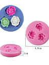 1 Piece Cake Mold Rose Flower Round For Candy For Chocolate For Pudding Silica Gel Baking Tool High Quality