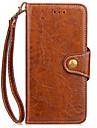 Capa de capa para iphone 7 mais 7 carteira carteira caso de carteira com suporte flip caso corpo completo cor solida pu couro duro para