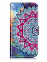 For Apple iPhone 7 7 Plus 6S 6 Plus SE 5S 5 Case Cover Half Flower Pattern Shine Relief PU Material Card Stent Wallet Phone Case