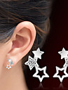 Simple Crystal Adorable Rhinestone Hollow Star Stud Earrings For Women Jewelry Party Earring Brincos Fashion 2017 New
