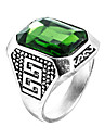 Men\'s Ring Emerald Unique Design Euramerican Fashion Zircon Emerald Alloy Jewelry Jewelry 147 Wedding Special Occasion Anniversary