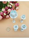 4 предмета Выпечка и кондитерские шпатели Цветы Торты Пластик