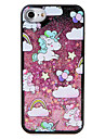 Case  for Apple iPhone 7 7 Plus Unicorn Balloon Glitter Shine Pattern Flowing Liquid Hard  PC  6s Plus 6 plus 6s 6 5s 5