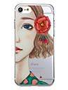 Pour iphone 7 plus 7 etui en carton couverture arriere coquille sexy femme dessin animee fleur tpon doux pour iphone 6s plus 6 plus 55s se
