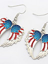 Euramerican Fashion Personalized Delicate  Wings Silver Lady Party Drop Earrings Statement Jewelry