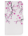 for Samsung Galaxy s8 s8 Plus Case Cover Plum Blossom Pattern PU Material Card Sten Twallet Phone Case S7 S6 S5 S7edge S6edge