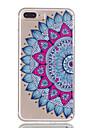 Для iphone 7plus 7 tpu материал наполовину цветочный узор рельефный телефон корпус 6s плюс 6plus 6s 6 se 5s 5