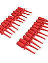 Plastic Multimeter Test Hook Clip Grabbers for PCB SMD IC (20PCS)
