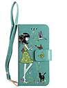 Для iphone 7plus 7 phone case pu кожаный материал женщина и кошка шаблон светящийся корпус телефона 6s плюс 6plus 6s 6 se 5s 5