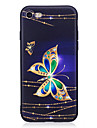 Pour iPhone X iPhone 8 Etuis coque Strass Motif Coque Arriere Coque Papillon Flexible PUT pour Apple iPhone X iPhone 8 Plus iPhone 8