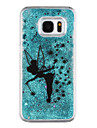 For Samsung Galaxy S8 Plus S8 Phone Case Butterfly Elves Pattern Flowing Quicksand Liquid Glitter Plastic PC Materia S7 edge S7