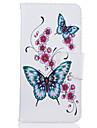 아이폰 7plus 7 전화 케이스 pu 가죽 소재 복숭아 나비 패턴 페인트 전화 케이스 6s 플러스 6plus 6s 6 se 5s 5
