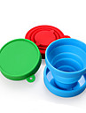Silicone Creative Folding Water Cup Retractable Outdoor Sports Portable Cup Green Cup