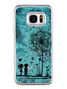 For Samsung Galaxy S8 Plus S8 Phone Case Dandelion Pattern Flowing Quicksand Liquid Glitter Plastic PC Materia S7 edge S7