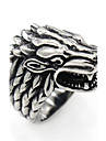 Men\'s Ring Animal Design Costume Jewelry Stainless Steel Wolf Jewelry For Gift Daily Casual Christmas Gifts