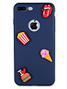 Case  for Apple iPhone 7 Plus 7 Cover Pattern Back Cover Case Food Heart 3D Cartoon Soft Silicone 6s Plus  6 Plus  6 6s 5 5s