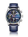남성용 스포츠 시계 드레스 시계 패션 시계 손목 시계 독특한 창조적 인 시계 중국어 석영 달력 방수 큰 다이얼 천연 가죽 밴드 참 멋진 창의적 멀티컬러