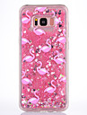 Etui pour samsung galaxy s8 s8 plus housse rose flamant motif tpu materiel plein doux amour flash poudre sac de telephone mobile pour s7