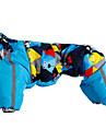 강아지 코트 강아지 의류 따뜻함 유지 기하학적 퍼플 옐로우 블루 핑크