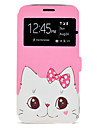 Case For Samsung Galaxy Cat Pattern Window Clamshell PU Leather Case with Stand and Card Slot J7(2016) J5(2016)