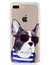 Pour iPhone X iPhone 8 Etuis coque Motif Coque Arriere Coque Chien Bande dessinee Flexible PUT pour Apple iPhone X iPhone 8 Plus iPhone 8