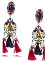 Women\'s Drop Earrings Jewelry Tassel Oversized Costume Jewelry EVA Resin Alloy Geometric Jewelry For Wedding Party Gift Stage Dress