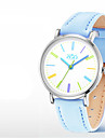 Women\'s Fashion Watch Quartz Water Resistant / Water Proof PU Band White Blue Pink