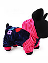 Dog Hoodie Clothes/Jumpsuit Dog Clothes Casual/Daily Letter & Number Blue Blushing Pink