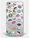 Case for iPhone 7 Plus iPhone 6 Food Pattern Phone Soft Shell for iPhone 7 iPhone6/6s Plus iPhone6/6s iPhone5 5s SE
