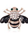Mulheres Broches Gema Basico Vintage Personalizado Joias de Luxo Estilo simples Classico Elegant bijuterias Moda Cristal Imitacoes de