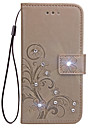 Case For Samsung Galaxy J7 Prime J5 Prime Case Card Holder Rhinestone with Stand Flip Embossed Full Body Case Flower Hard PU Leather for J2 Prime