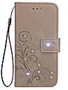케이스 삼성 갤럭시 j1 (2016) j1 미니 케이스 커버 카드 지갑 스탠드 플립 양각 된 전신 케이스 j1 에이스에 대 한 꽃 하드 pu 가죽