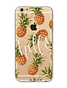 Etui pour iphone 7 plus 7 recouvrement transparent motif couverture arriere carreau de fruits ananas doux tpu pour Apple iphone 6s plus 6