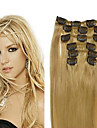 70g(7pcs)/set Brazilian Virgin Hair Straight Clip In Human Hair Extensions