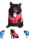 Dog Coat Hoodie Vest Red Blue Gray Dog Clothes Winter Spring/Fall Solid Casual/Daily Keep Warm