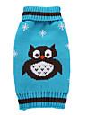 강아지 코트 스웨터 강아지 의류 파티 코스프레 휴일 캐쥬얼/데일리 웨딩 패션 할로윈 크리스마스 새해 동물 오렌지 레드 그린 블루