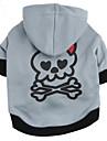 Cat Dog Hoodie Gray Dog Clothes Winter Spring/Fall Skulls Fashion