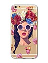 Case for iPhone 7 Plus 7 Cover Transparent Pattern Back Cover Case Sexy Lady Soft TPU for Apple iPhone 6s plus 6 Plus 6s 6 SE 5s 5c 5 4s 4