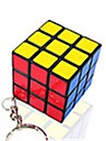 Rubik\'s Cube Smooth Speed Cube Smooth Sticker Magic Cube Key Chain Plastics