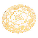 Goldene Totem Patter Runde PVC Coaster