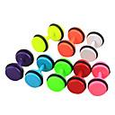 eruner®6mm candy Farbe Titan Stahl Hantel Muster Ohrringe (farbig sortiert)