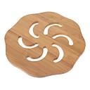 """6.5 """"Hohle Windmill Pattern Bamboo Coaster"""