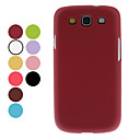 Leather Grain Pattern Hard Case for Samsung Galaxy S3 I9300 (Assorted Colors)