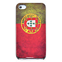 Vintage Portugal Flag Pattern Hard Case for iPhone 4/4S