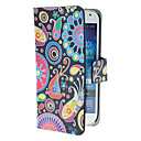 Colorful Painting Pattern PU Leather Case with Magnetic Snap and Card Slot for Samsung Galaxy S4 mini I9190