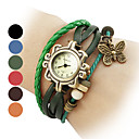 Women's Butterfly Style Leather Analog Quartz Bracelet Watch (Assorted Colors) Cool Watches Unique Watches