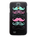 Matte Style Exquisite Moustache Pattern Durable Hard Case for Samsung Galaxy S4 I9500